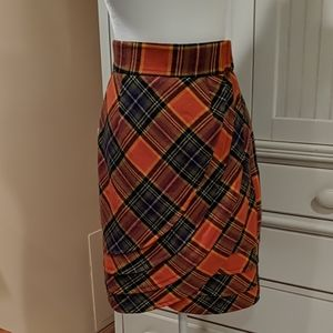Tracey Reese Easy Keeper Plaid Tulip Skirt